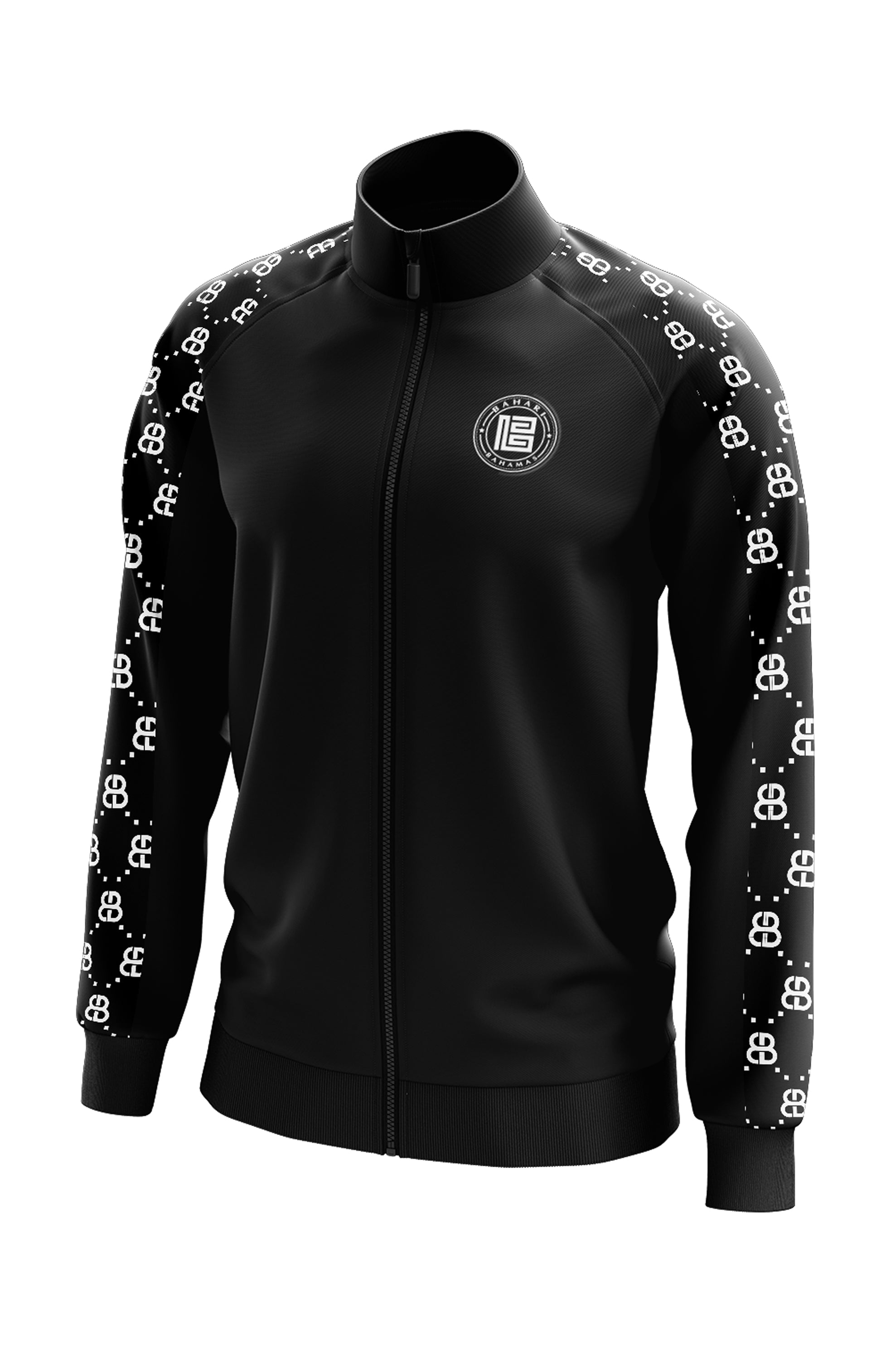 THE MONOGRAM TRACK JACKET- BLACK