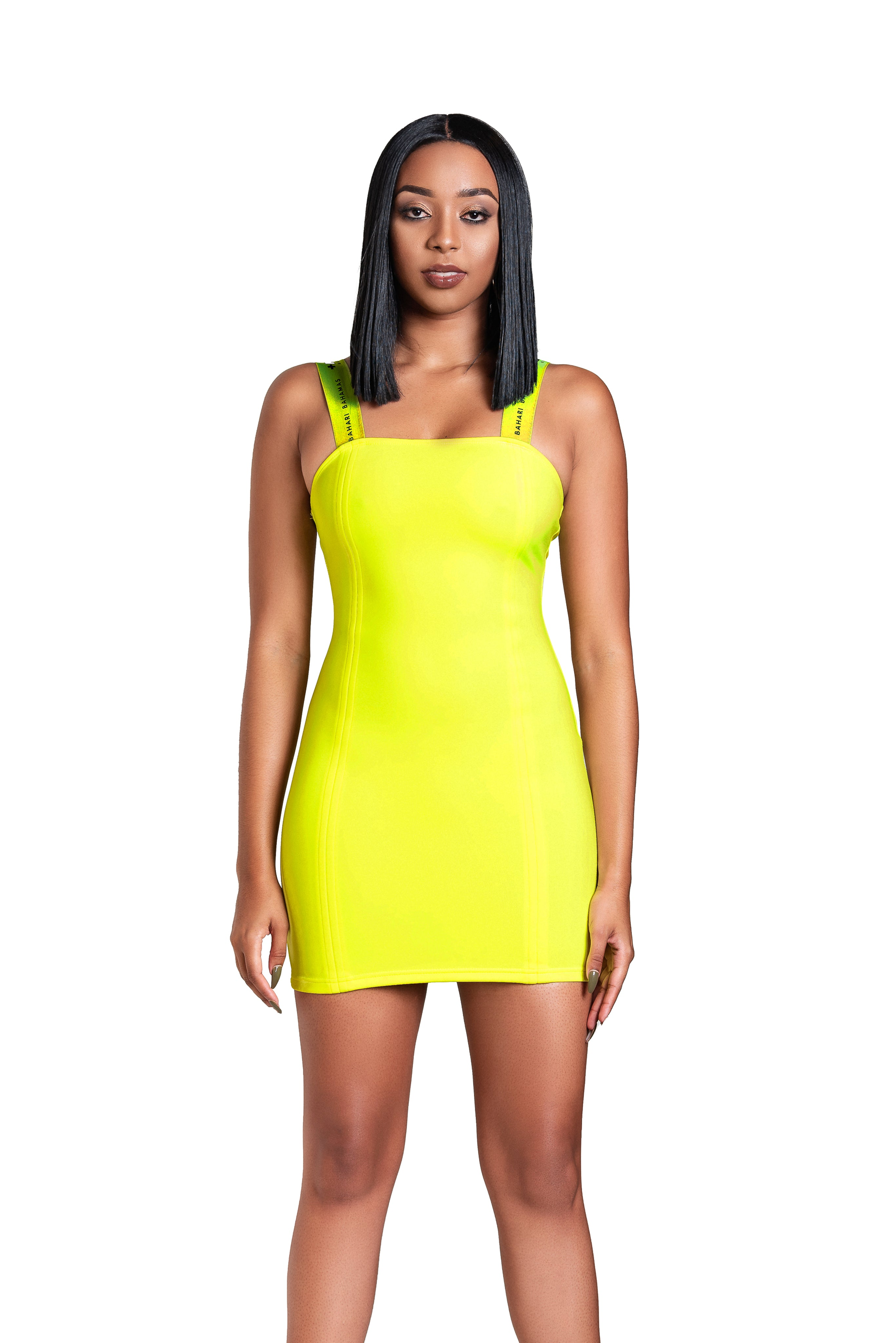 The Vibrato Bodycon- Canary Lime