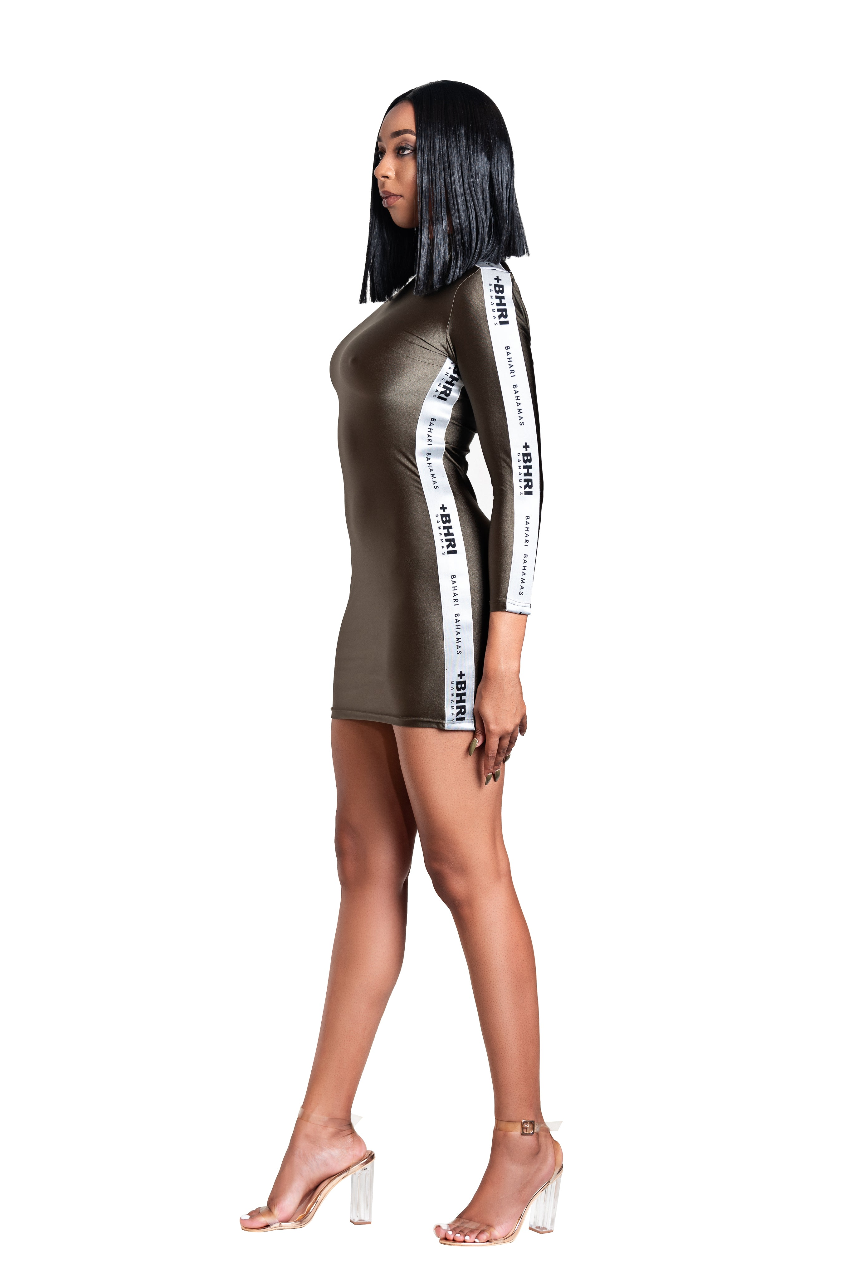 The Pinta Long Sleeve Bodycon- Olive