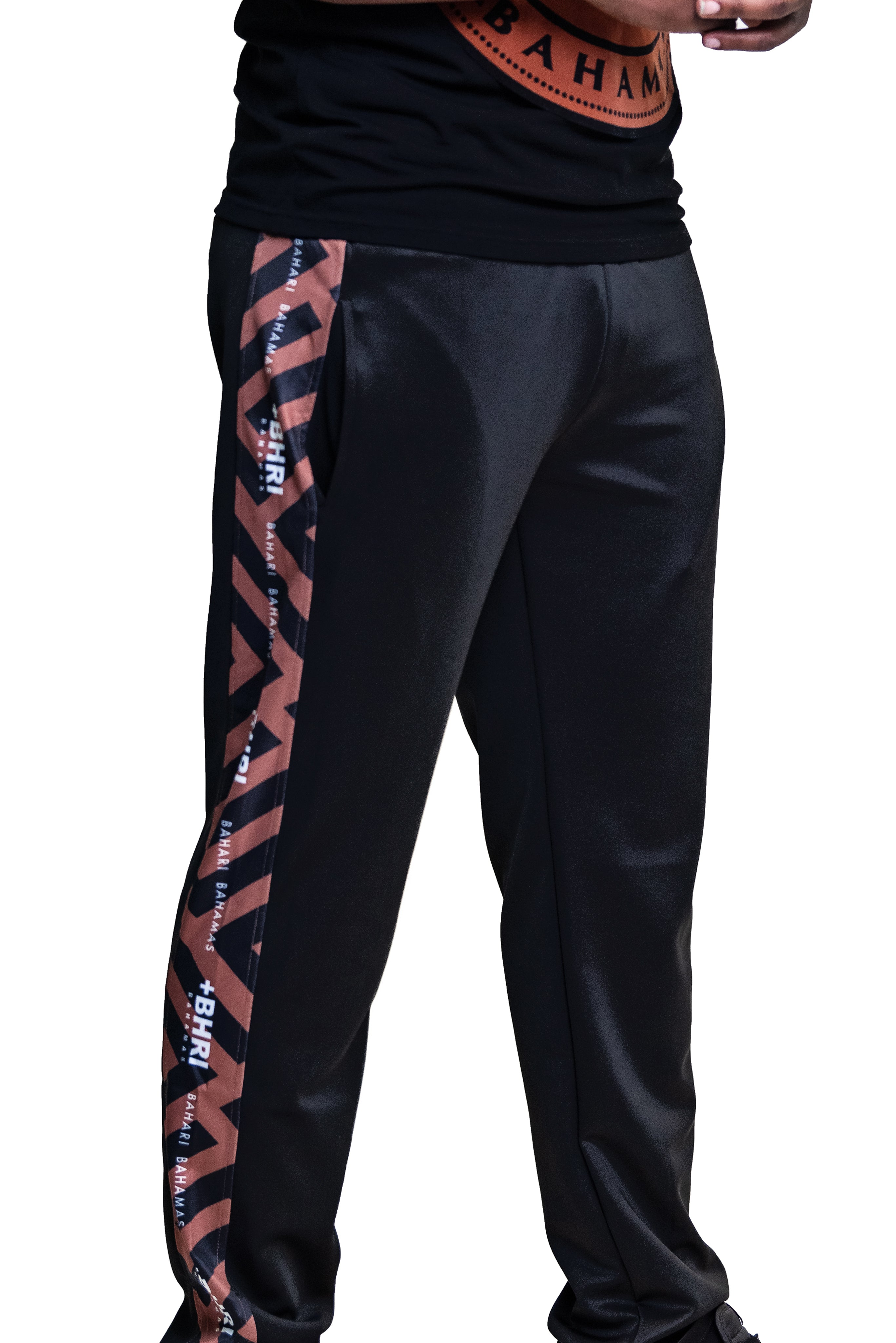 The Avion Track Pants- Black