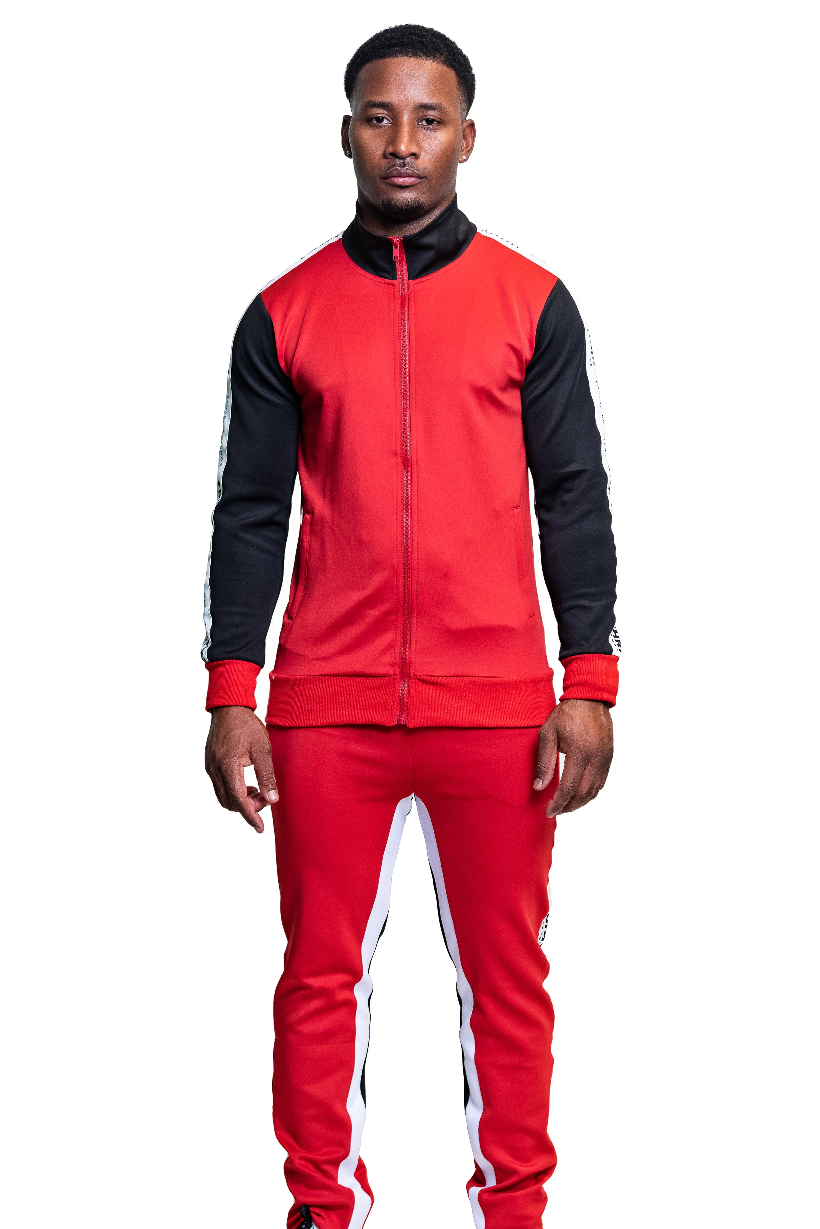 The Pollatto Track Pants- Red