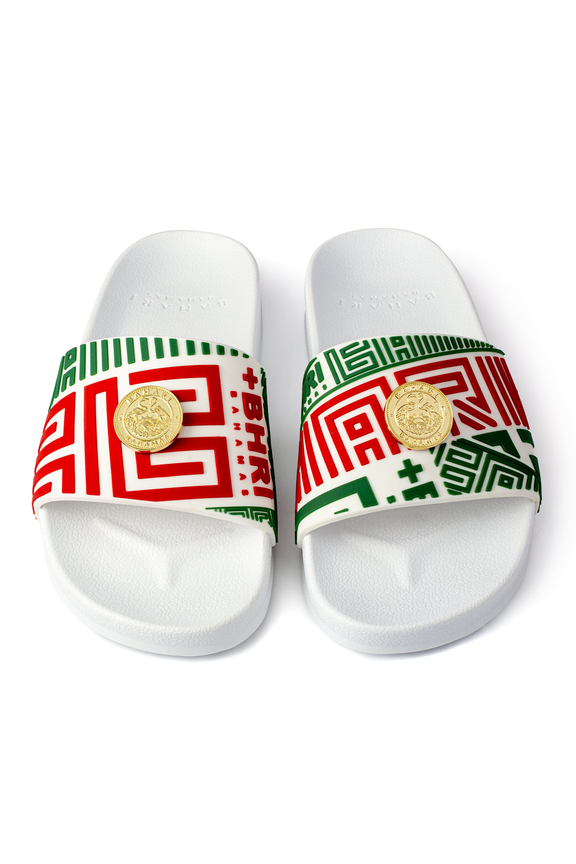 UNISEX VIDA REX SILICONE SLIDES - WHITE / GREEN / RED