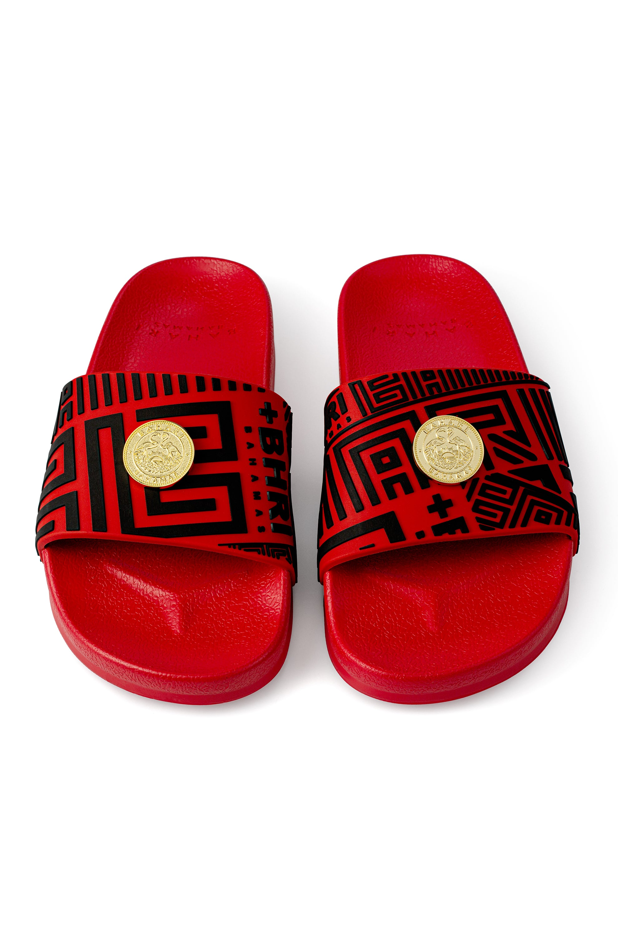 UNISEX VIDA REX SILICONE SLIDES - RED & BLACK