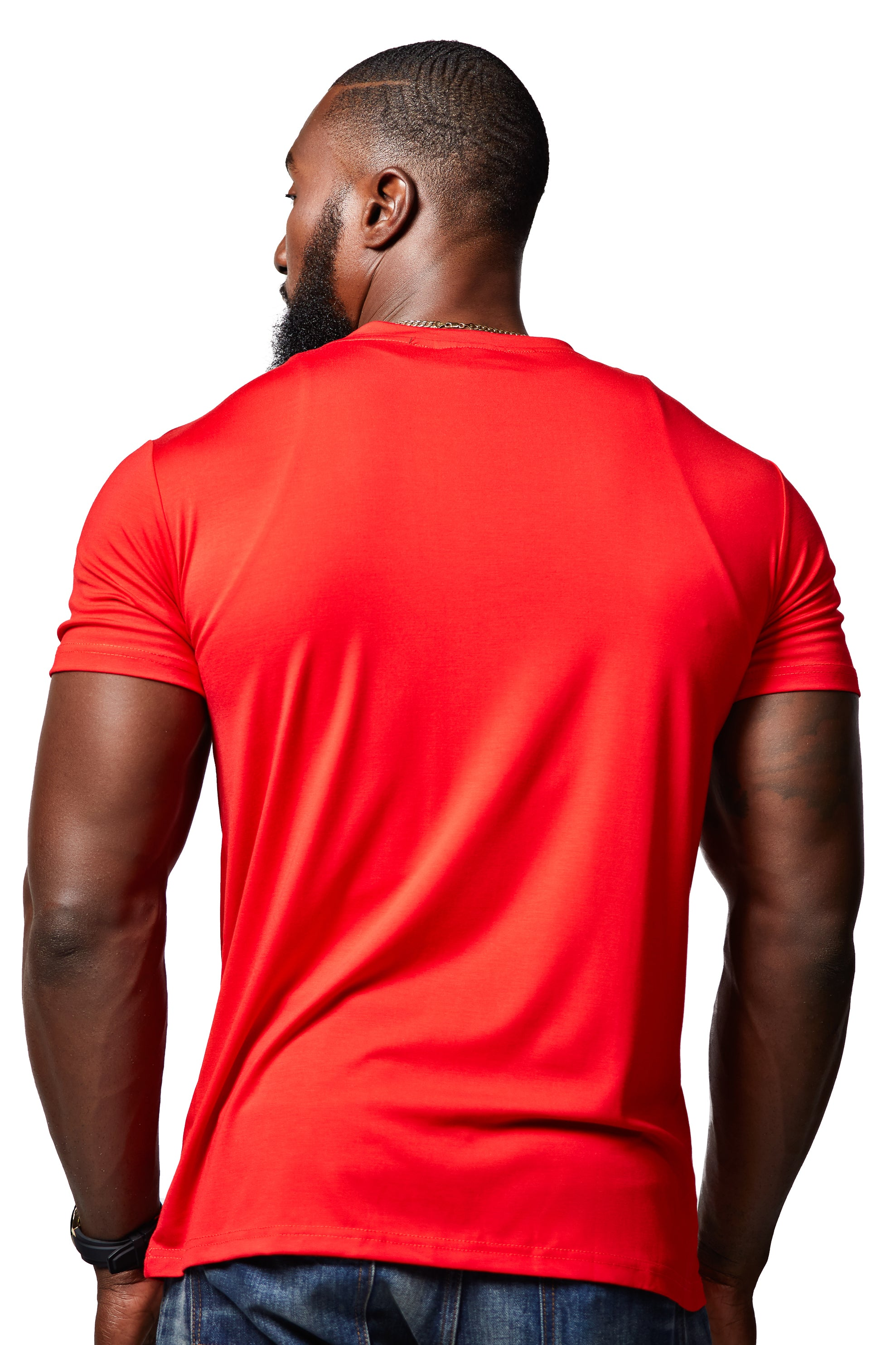 The Clura Velvet Tee - Red
