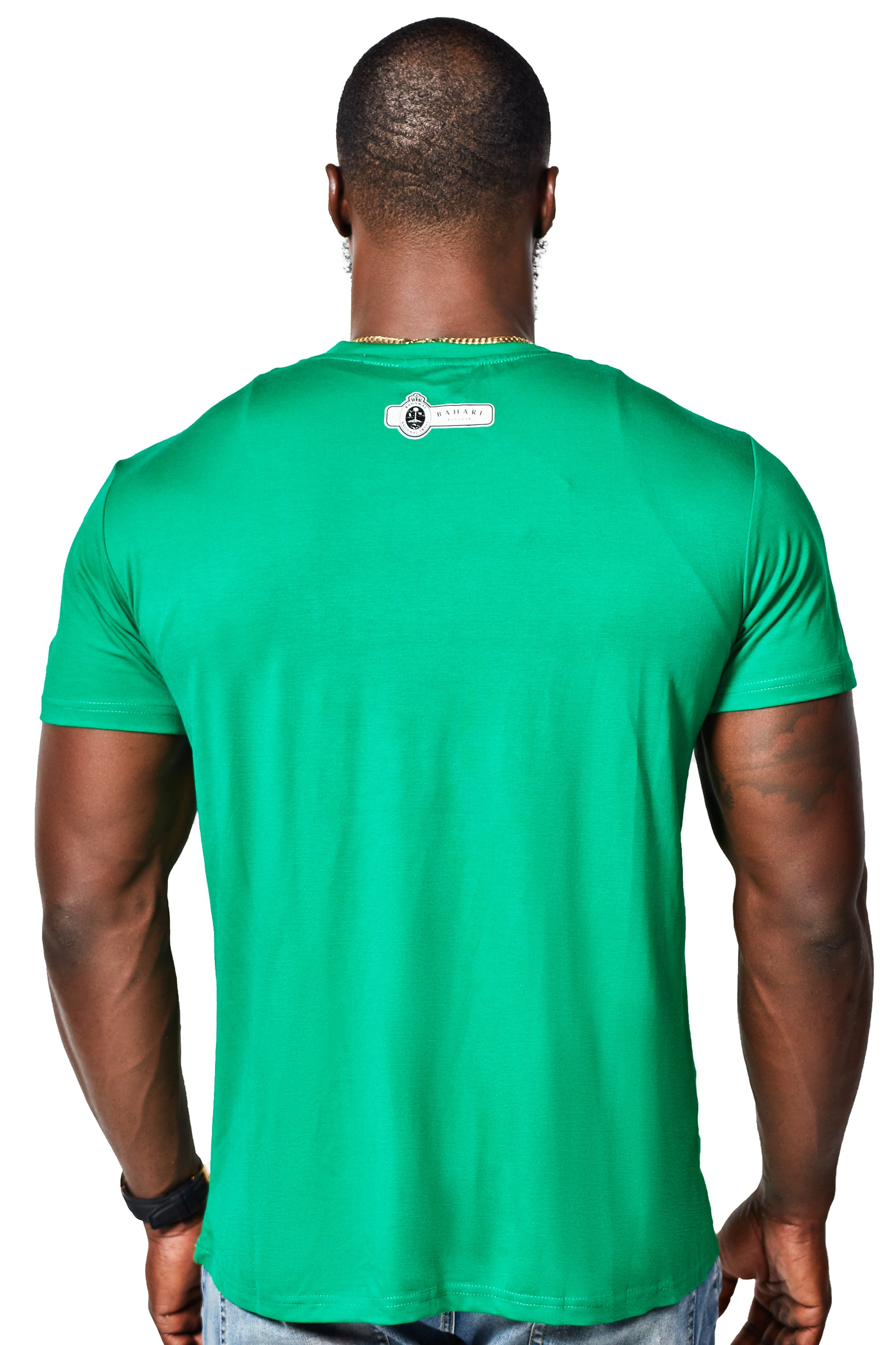 The Clura Silk Cotton Tee - Green