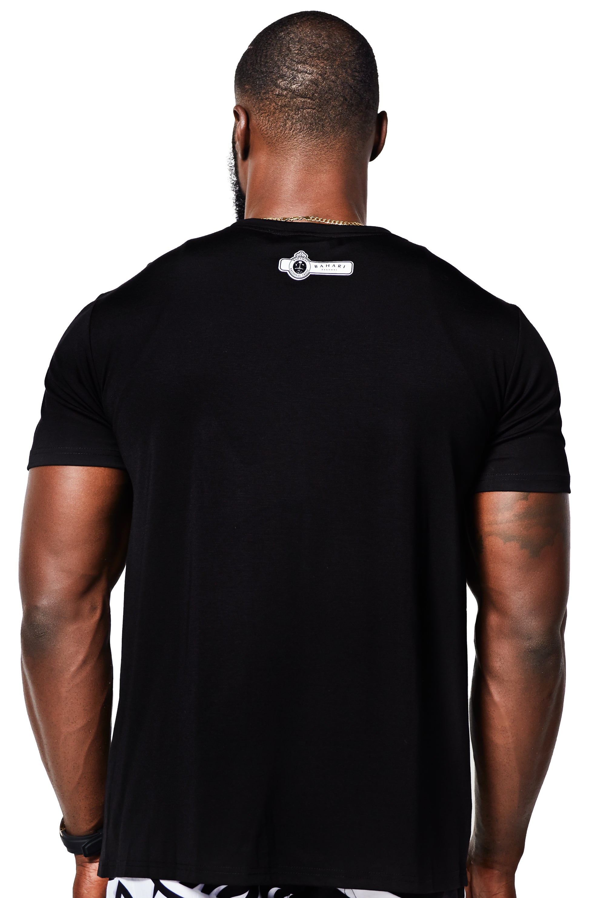 The Clura Silk Cotton Tee - Black