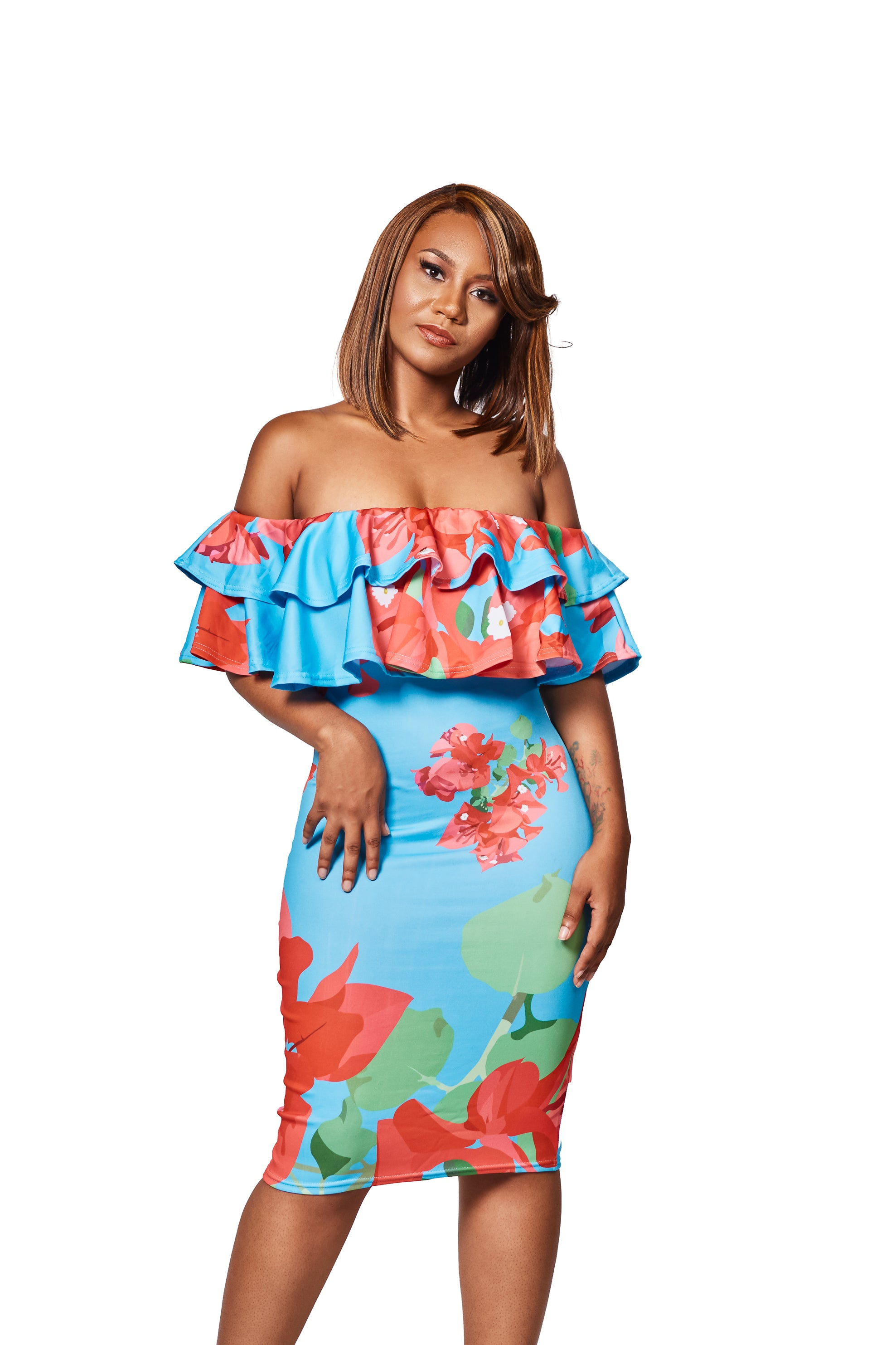 The Glara Off Shoulder Dress