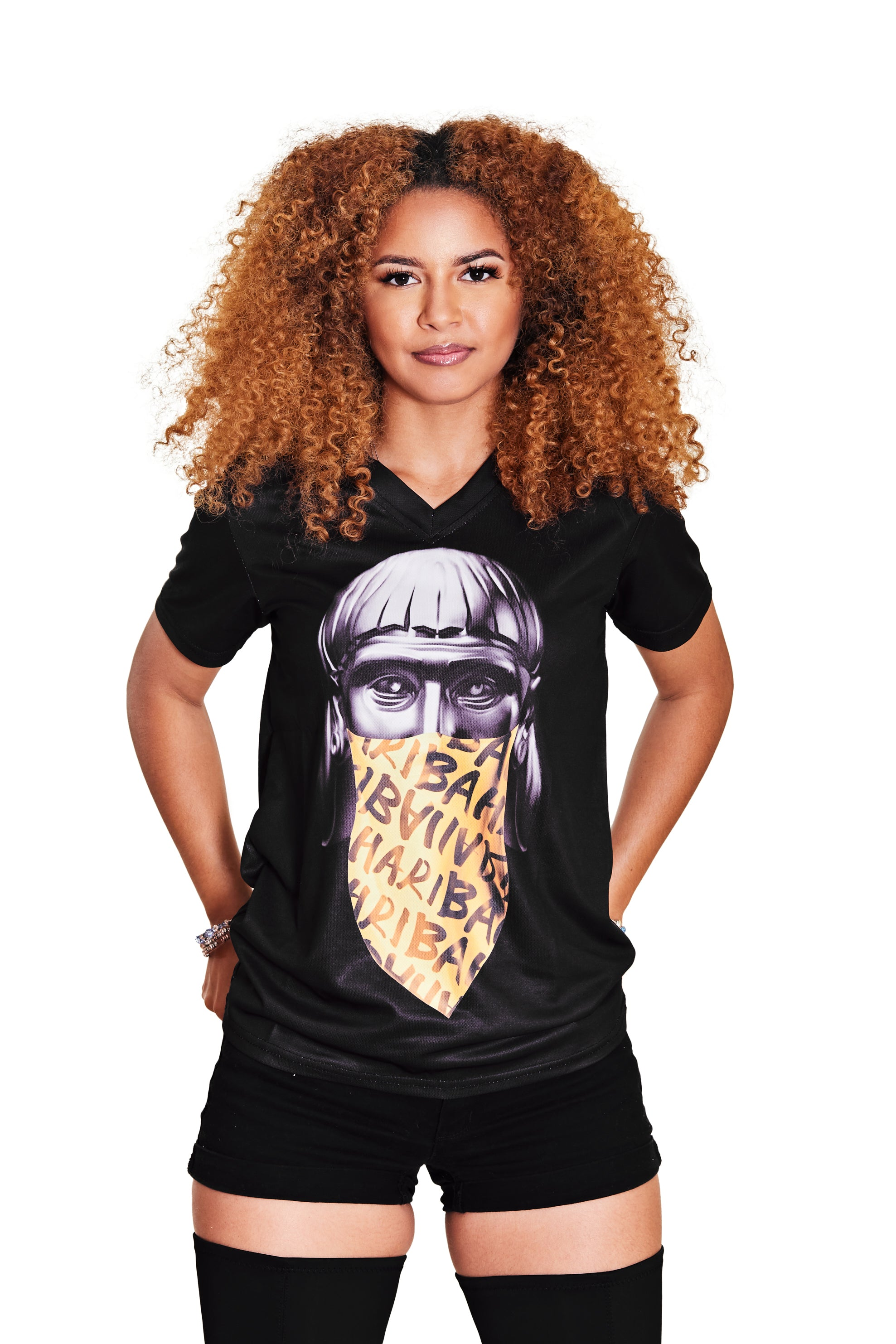 (V-NECK) THE DON LUCAYOS TEE- BLACK