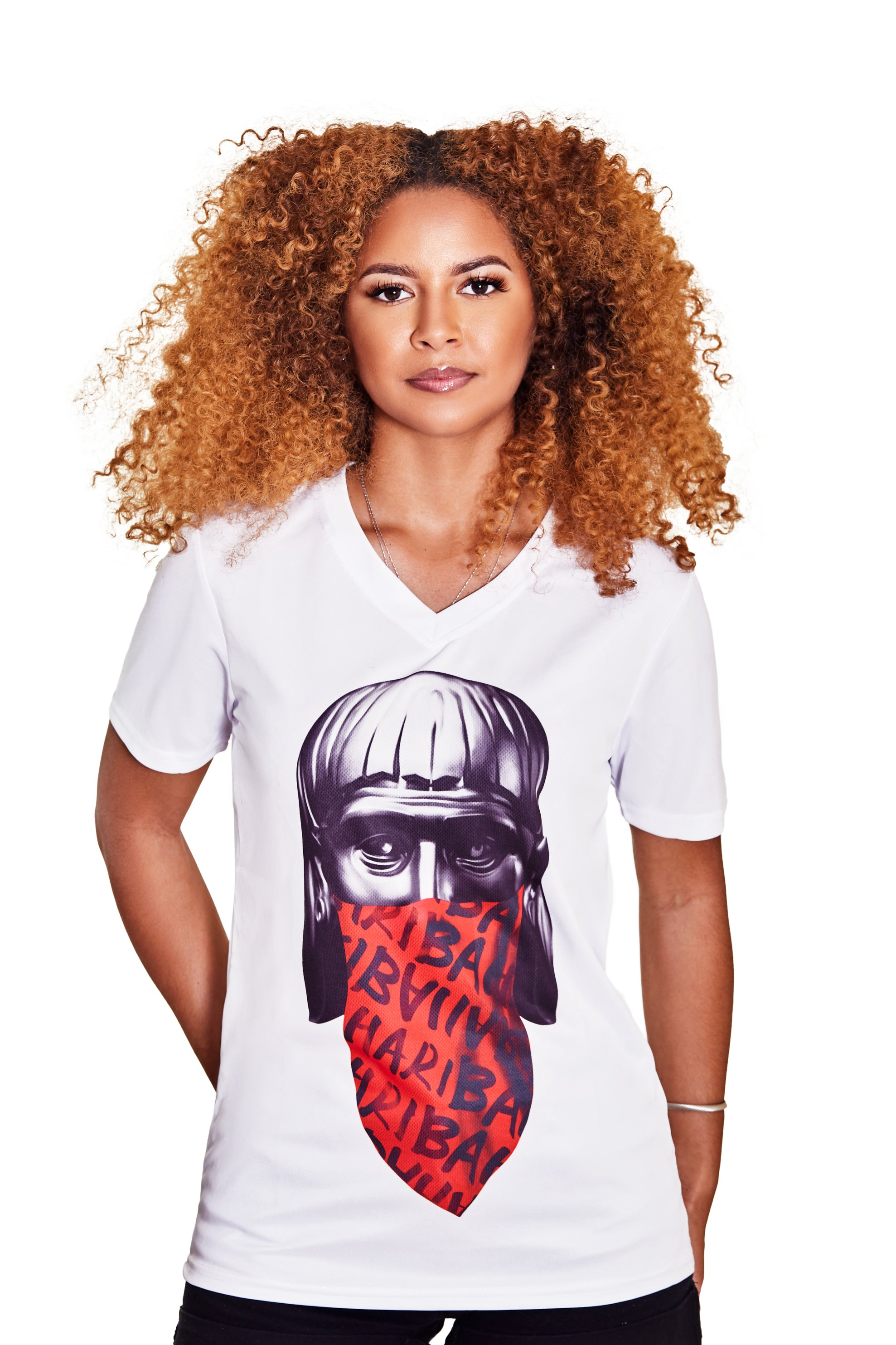 (V-NECK) THE DON LUCAYOS TEE- WHITE