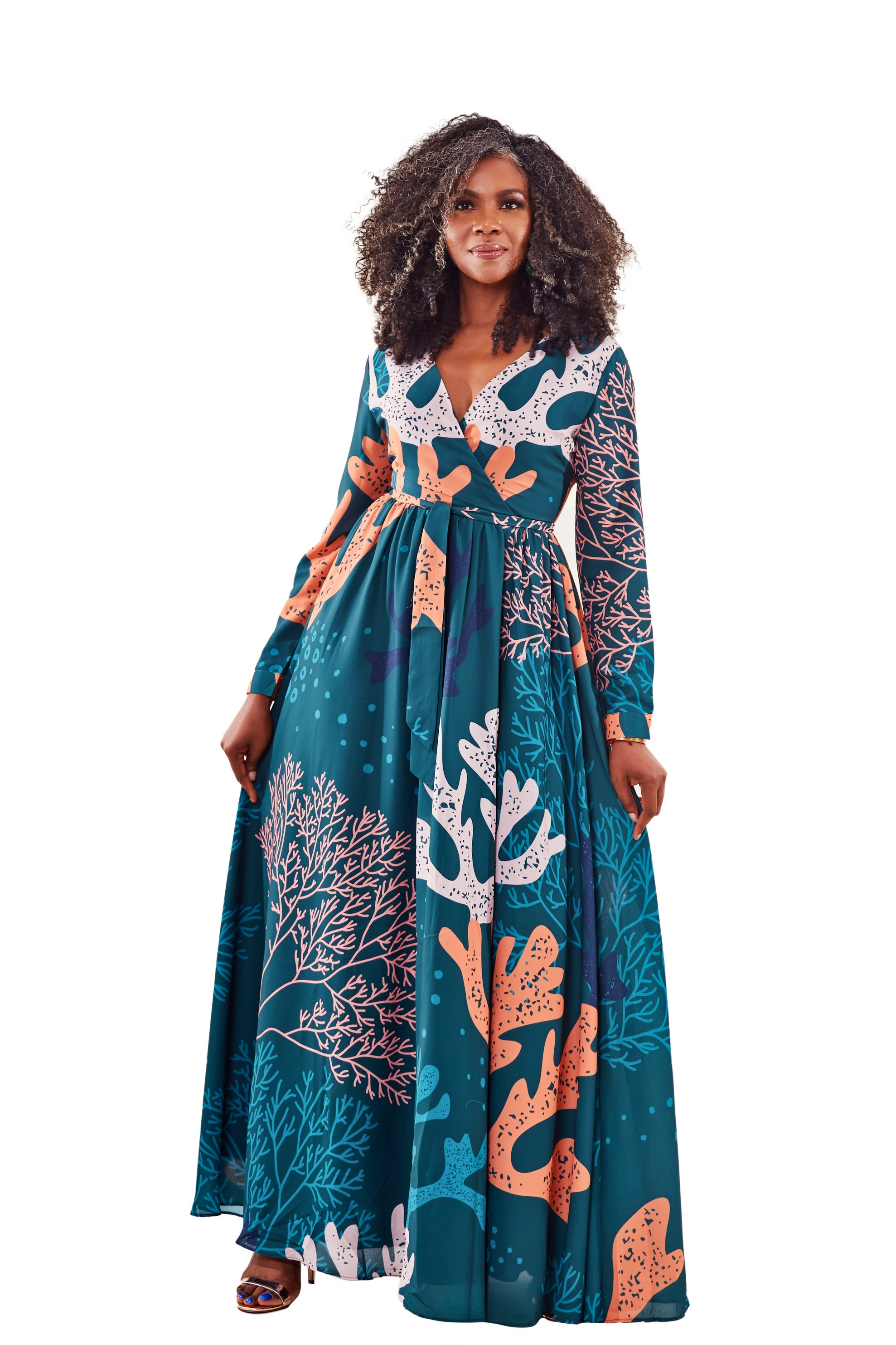 THE CORELLA MAXI DRESS-FOREST