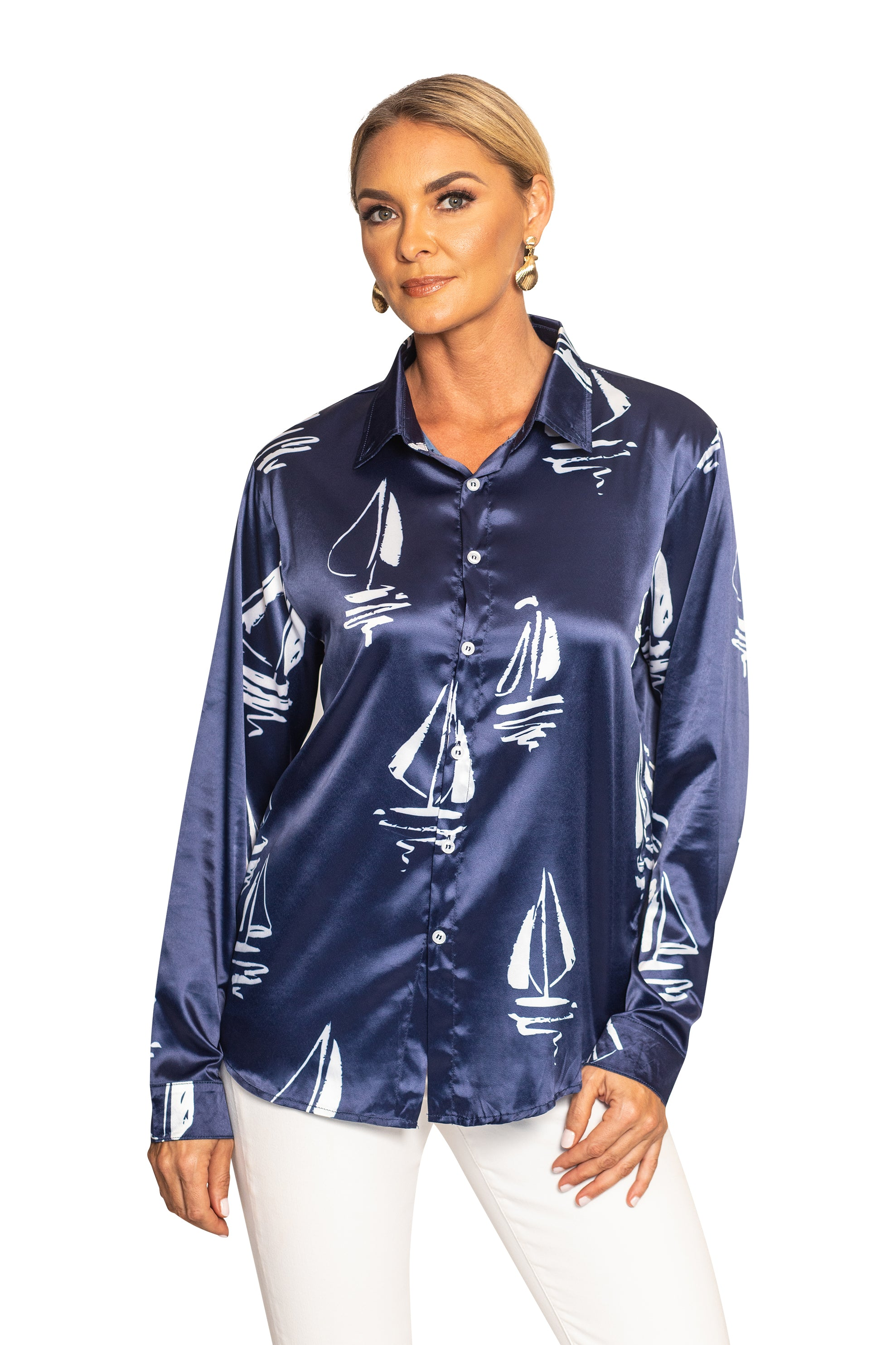 THE REGATTA SATIN BUTTON UP