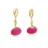 THE PATRICIA EARRINGS- FUCHSIA