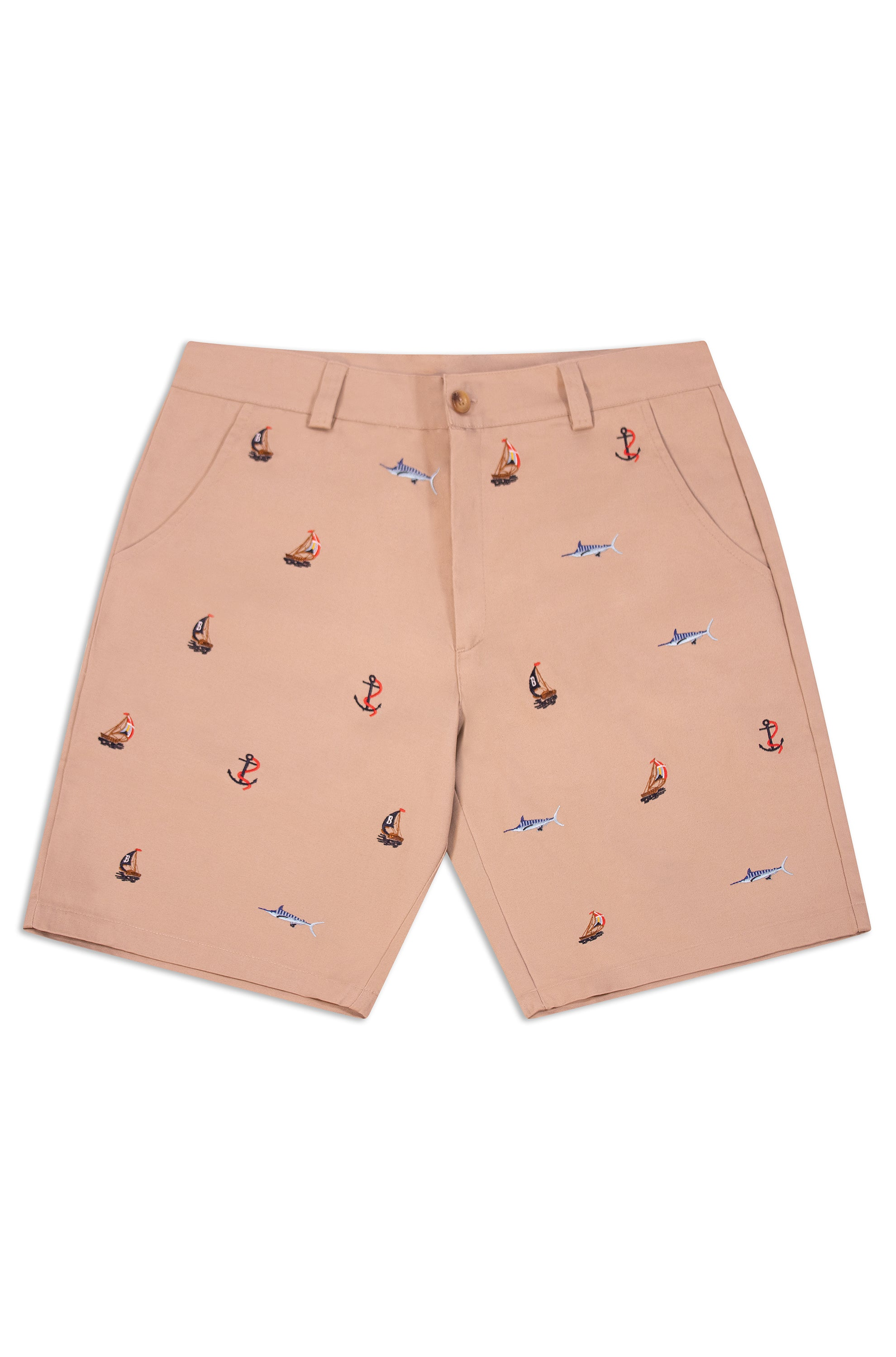 THE REGATTA EMBROIDERED SHORTS- KHAKI