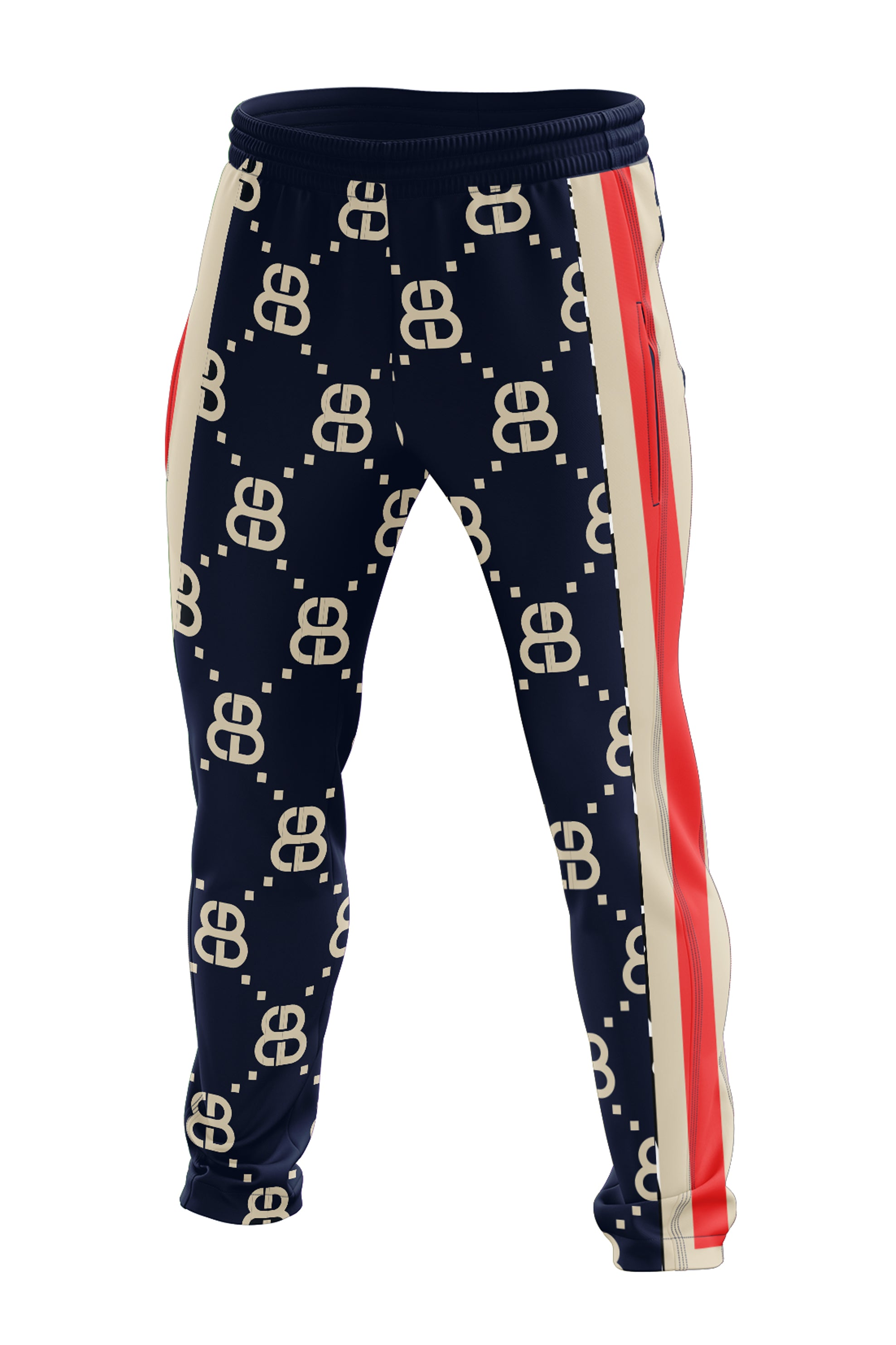 THE MONOGRAM TRACK PANTS- NAVY