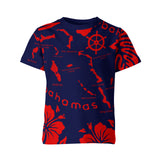 THE KIDS ARCHIPELAGO TEE- NAVY & RED