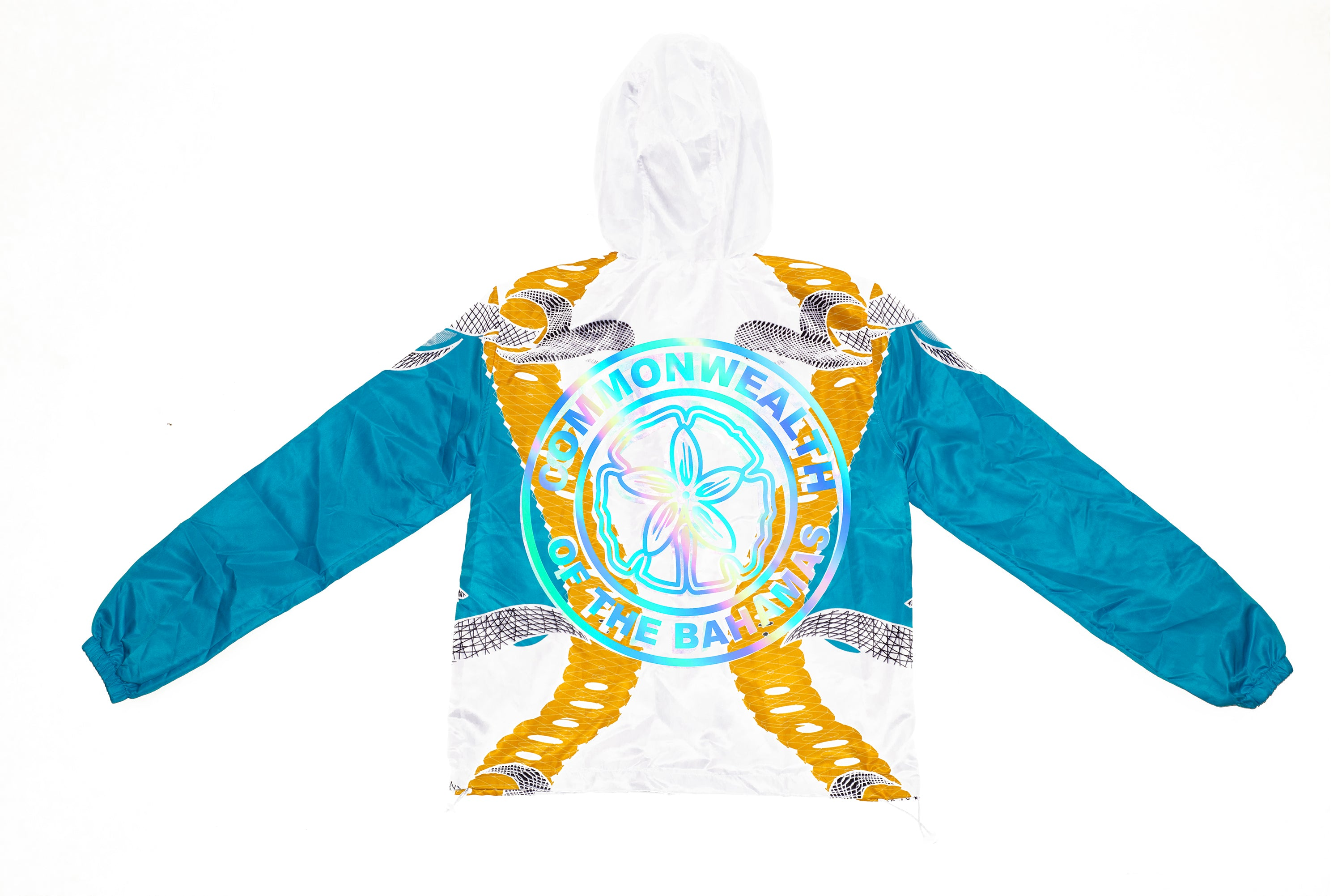 LIMITED EDITION COMMONWEALTH OF THE BAHAMAS BEACH JACKET-WHITE