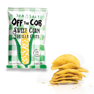 Backordered: 6 pack (4-oz bags) Off the Cob Chips, Sweet Corn & Sea Salt