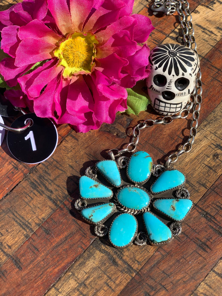 Flower Power Cluster Necklace #1