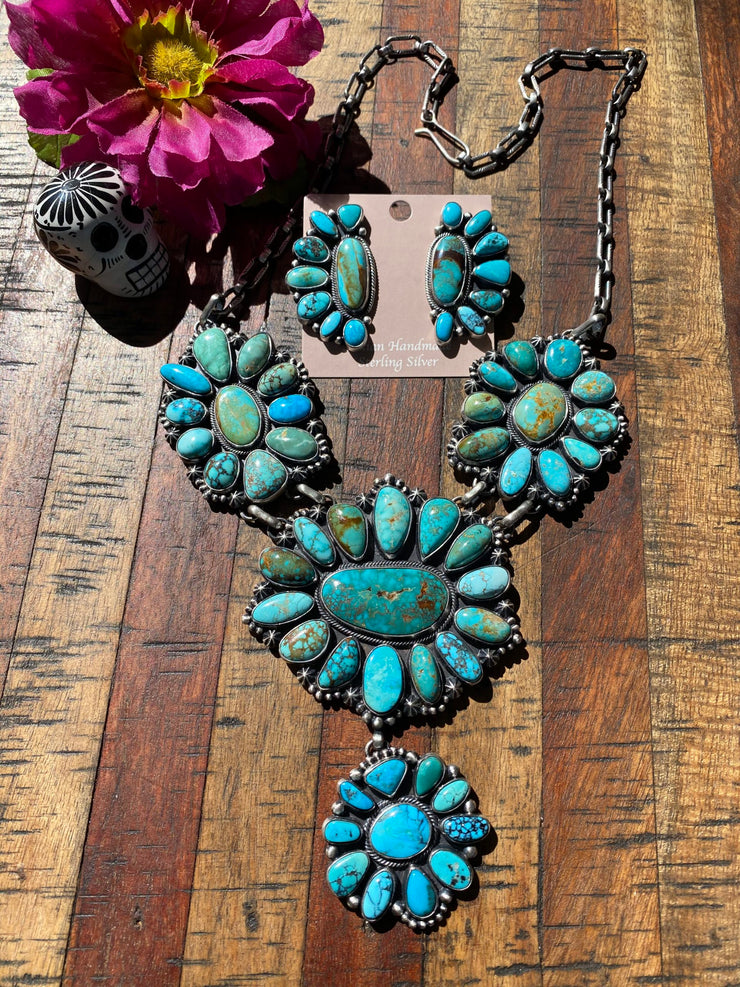 """Turquoise Fantasy"" Necklace Set"