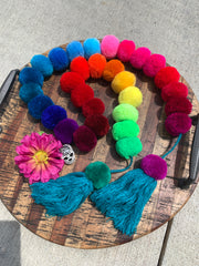 Multi-Color Pom-Pom Garland