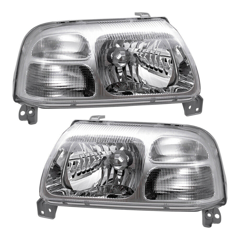 For Suzuki Grand Vitara XL-7 Vitara Halogen Combination Headlights Chrome Bezel