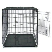 "Load image into Gallery viewer, 42"" Pet Kennel Cat Dog Folding Steel Crate Animal Playpen Wire Metal"