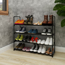 Load image into Gallery viewer, 4 Tier Metal Shoe Rack Unit Shelf Closet Organizer Holds 20 Pair Shoes Black Free shipping