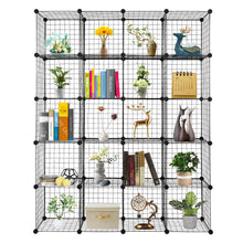 Load image into Gallery viewer, 20 Cube Wire Metal Closet Organizer Bookcase Cabinet Wardrobe Storage Shelves