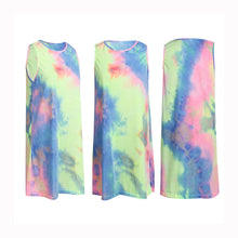 Load image into Gallery viewer, Women's Summer Short Dress  Beach Casual Loose Rainbow Tie-dye Sundress
