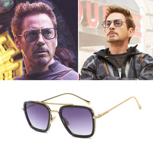 Load image into Gallery viewer, Free shipping Fashion Square Iron Man Sunglasses Men's Women Metal Retro Outdoor Glasses UV400