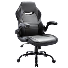 Load image into Gallery viewer, Free Shipping Executive Gaming Chair Racing Computer Office Desk Chair, 360°Swivel Flip-up Arms Ergonomic Design for Lumbar Support