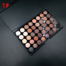 Load image into Gallery viewer, Cosmetics Makeup Shimmer Eye shadow Natural 40 Colors Light Set Earth color Not blooming Waterproof Shimmer Glitter Cosmetic Collection Diamond Shimmer Women Gift