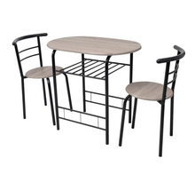 Load image into Gallery viewer, Best Choice Products 3-Piece  breakfast bar set  Table Furniture Set for Kitchen, Bar,, Compact, Space-Saving Design - Black