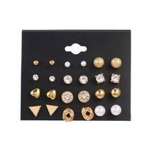 Load image into Gallery viewer, Women's Pearl Earrings