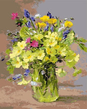 Load image into Gallery viewer, Paint by numbers DIY Canvas Painting Flowers in Vase