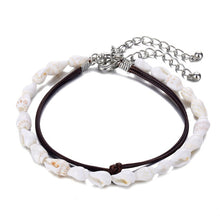 Load image into Gallery viewer, Bohemia Vintage Shell Rope Chain Bracelet  Beach Sea Shell Bracelet Anklet