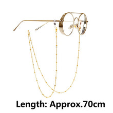 Load image into Gallery viewer, 1pcs Eyeglass Strap Reading Glasses Hanging Chain Fashion Sunglasses Spectacles Holder Neck Cord Metal Chain