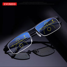 Load image into Gallery viewer, Progressive reading glasses for men & women near and dual-use Anti-Blue Light automatic adjustment Eyewear