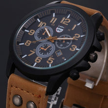 Load image into Gallery viewer, Vintage Classic Watch Men Watches Stainless Steel Waterproof Date Leather Strap Sport Quartz