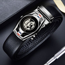 Load image into Gallery viewer, CARTELO Leather Belts for Men 3.5cm Width Sports car Brand Fashion Automatic Buckle Black Genuine Leather Belt Men's Belts