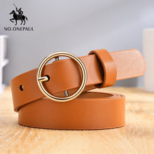Load image into Gallery viewer, Women's Genuine Leather Punk Style Pin Buckle Belt