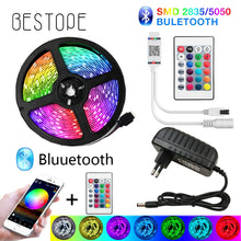 Load image into Gallery viewer, BESTOPE Bluetooth LED Strip Lights 20M RGB 5050 SMD Flexible Ribbon Waterproof RGB LED Light 5M 10M Tape Diode DC 12V Control