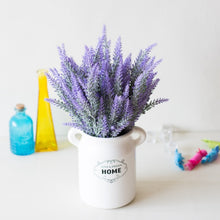 Load image into Gallery viewer, 1 Bundle Romantic Provence Lavender Wedding Decorative Flower Vase for Home Decor Artificial Flowers Grain