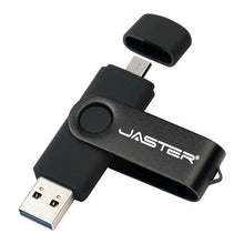 Load image into Gallery viewer, JASTER  High Speed OTG USB Flash Drive 128gb Pen Drive 64gb 32gb 16gb Pendrive 2 in 1 Micro Usb Stick for Android SmartPhone