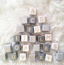 Load image into Gallery viewer, Wood Letters or Numbers Block Decoration DIY Alphabet Craft