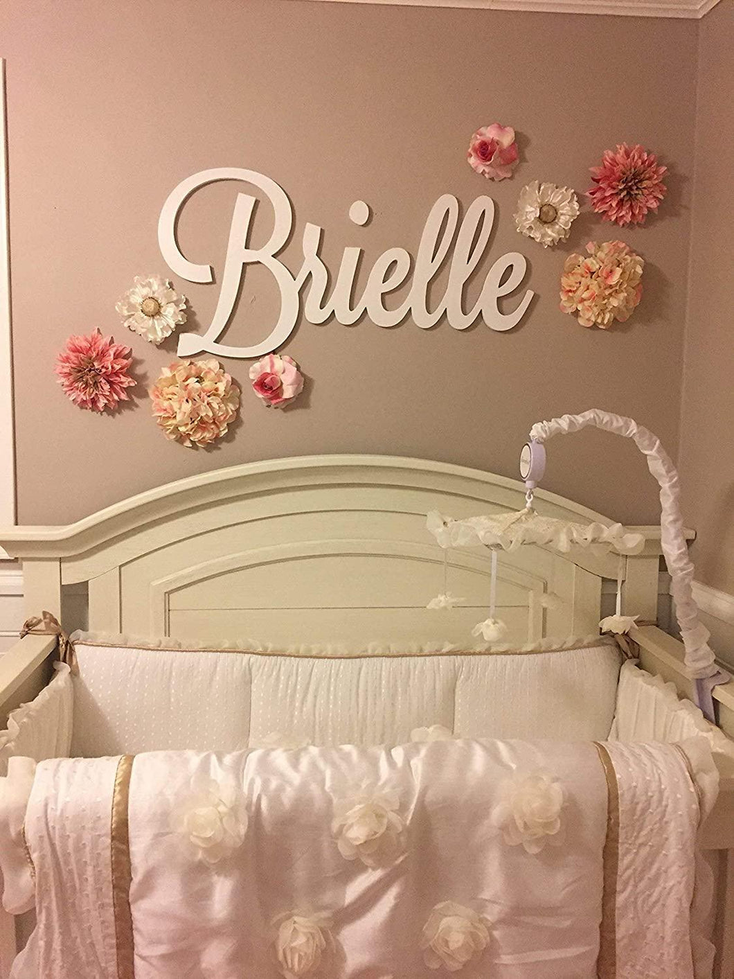 Personalized Wooden Name Sign Large size Letters Baby Name Plaque PAINTED nursery name nursery decor  wall art