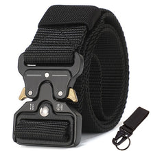 Load image into Gallery viewer, 125-140long big size Belt Male Tactical military Canvas Belt Outdoor Tactical Belt men's Military Nylon Belts Army ceinture hom