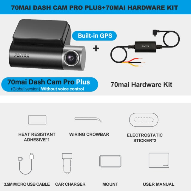 Dash Camera 1944p Built in GPS  Car or Truck DVR