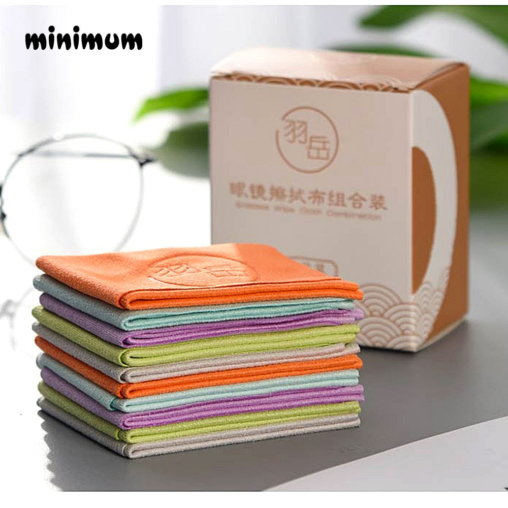 10 pcs/lots Eyeglasses Chamois Cleaner 150*175mm Microfiber Glasses Cleaning Cloth For Lens Phone Screen Cleaning Wipes