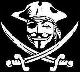 Anonymous Pirate Die Cut Vinyl Sticker Decal